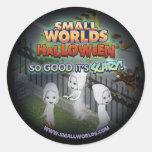 Pegatinas del fantasma de SmallWorlds Halloween Etiquetas Redondas