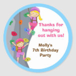 Pegatinas del favor de la fiesta de cumpleaños de
