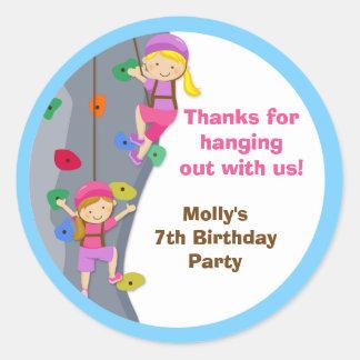 Pegatinas del favor de la fiesta de cumpleaños de pegatina redonda