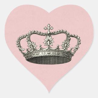 Pegatinas del favor de la princesa fiesta de calcomanía corazón personalizadas