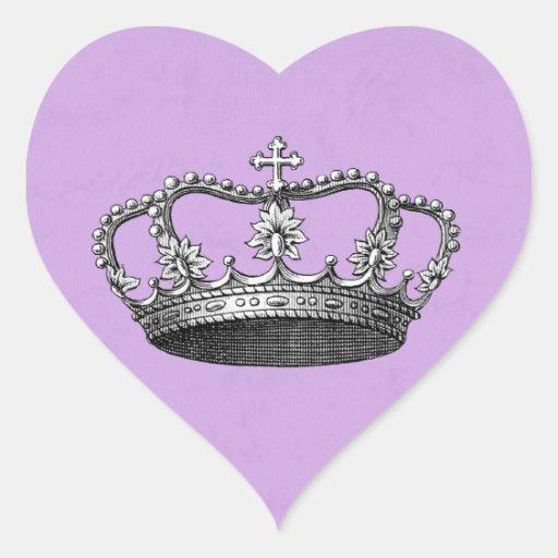 Pegatinas del favor de la princesa fiesta de pegatina en forma de corazón