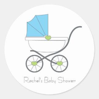 Pegatinas del favor del bebé pegatina redonda