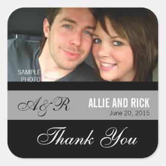 Pegatinas del favor del boda de la foto del pegatinas cuadradases personalizadas