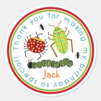 Pegatinas del favor del cumpleaños de las hormigas pegatina redonda