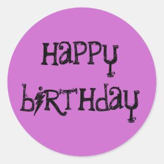 Pegatinas del feliz cumpleaños pegatina redonda