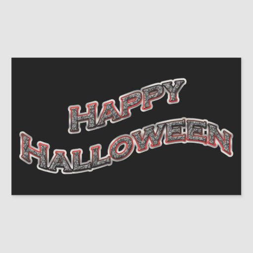 Pegatinas del feliz Halloween Rectangular Pegatinas