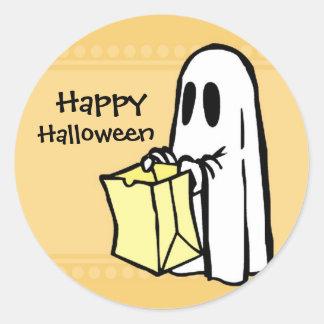 Pegatinas del feliz Halloween del fantasma Pegatina Redonda