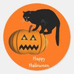 Pegatinas del feliz Halloween Etiquetas Redondas