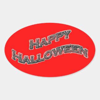 Pegatinas del feliz Halloween Pegatina Ovalada