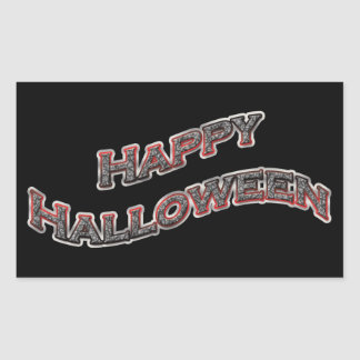 Pegatinas del feliz Halloween Pegatina Rectangular