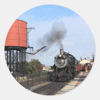 Pegatinas del ferrocarril de Strasburg Pegatina Redonda