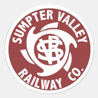 Pegatinas del ferrocarril del valle de la acémila pegatina redonda
