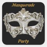 Pegatinas del fiesta de la mascarada pegatinas cuadradases