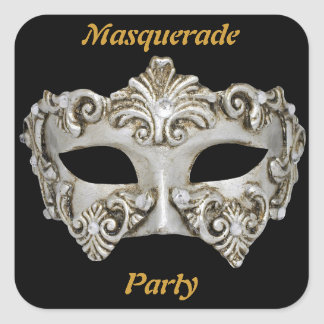 Pegatinas del fiesta de la mascarada pegatina cuadrada