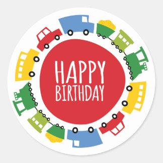 Pegatinas del fiesta del feliz cumpleaños de los pegatina redonda