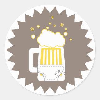 Pegatinas del fiesta el | de la cerveza y del pegatina redonda