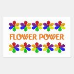 Pegatinas del flower power rectangular pegatinas