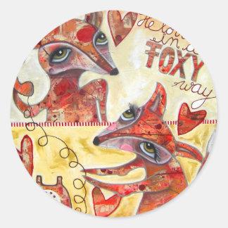 Pegatinas del Fox Pegatina Redonda