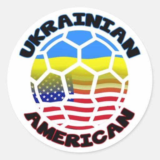 Pegatinas del fútbol de América del ucraniano Etiquetas Redondas