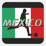 Pegatinas del fútbol de México Pegatinas Cuadradases