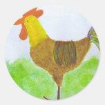 Pegatinas del gallo etiquetas redondas