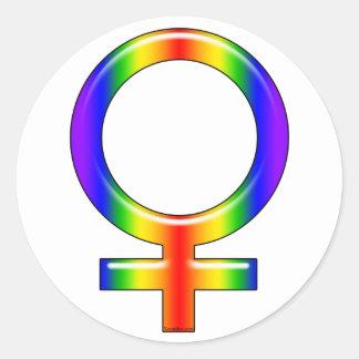 Pegatinas del galón del arco iris etiquetas redondas