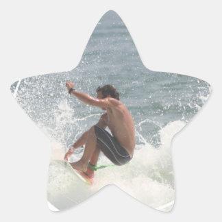 Pegatinas del gancho agarrador que practican surf calcomanias forma de estrella
