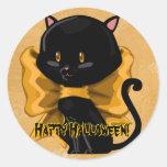 Pegatinas del gato de Halloween