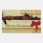 """Pegatinas del gato """"de las Felices Navidad"""" Rectangular Altavoz"""