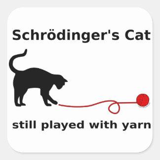 """""""Pegatinas del gato de Schrödinger"""" Pegatina Cuadrada"""