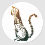 Pegatinas del gato de Steampunk