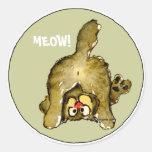 Pegatinas del gato del dibujo animado del MAULLIDO