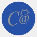 Pegatinas del gato del símbolo del texto