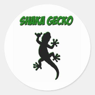 Pegatinas del Gecko de Shaka Pegatina Redonda