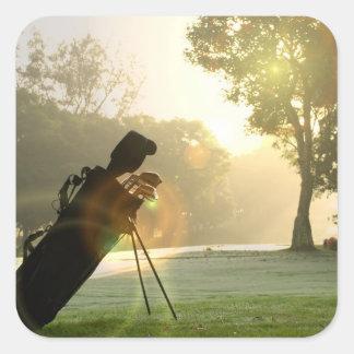 Pegatinas del golf calcomanía cuadradase