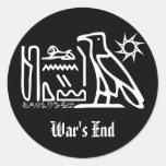 Pegatinas del gótico del jeroglífico del extremo etiquetas redondas