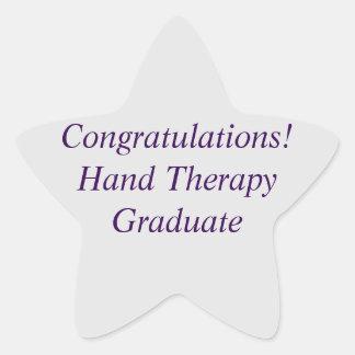 Pegatinas del graduado de la terapia de la mano pegatina en forma de estrella