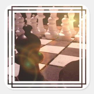 Pegatinas del Grandmaster del ajedrez Pegatina Cuadradas