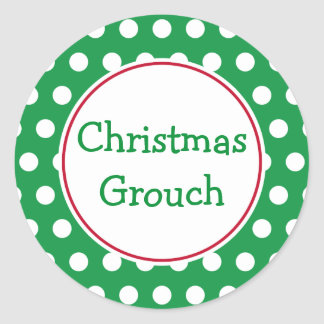 Pegatinas del Grouch del navidad Pegatina Redonda