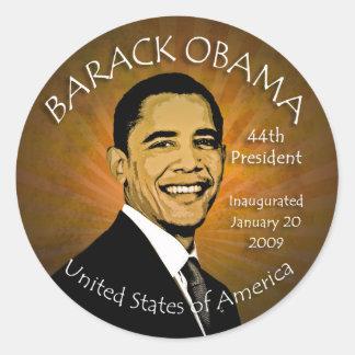 Pegatinas del Grunge de Barack Obama Pegatina Redonda