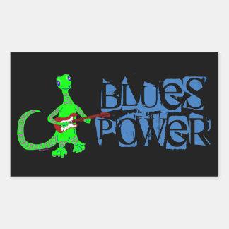 Pegatinas del guitarrista del lagarto del poder de pegatina rectangular