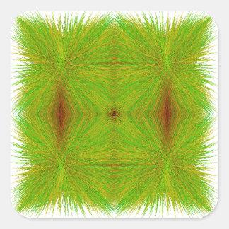 """Pegatinas del """"heno verde"""" del Matemáticas-ARTE Pegatina Cuadrada"""