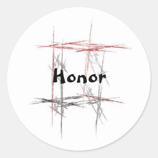 Pegatinas del honor de los artes marciales