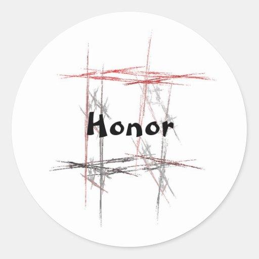 Pegatinas del honor de los artes marciales pegatina redonda