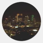Pegatinas del horizonte de Dallas Pegatina Redonda