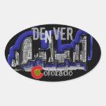 Pegatinas del horizonte de Denver Colorado
