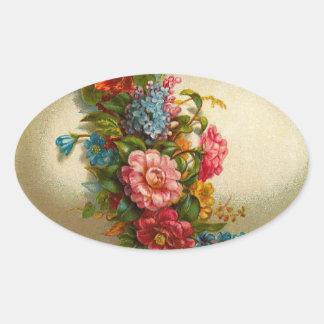 Pegatinas del huevo de Pascua del vintage Pegatina Ovalada