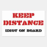 Pegatinas del idiota a bordo rectangular altavoz