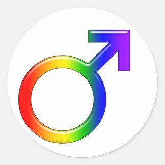 Pegatinas del individuo del arco iris pegatinas redondas