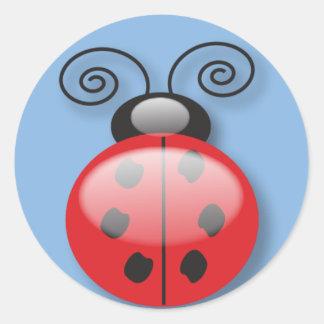 pegatinas del insecto de la señora pegatina redonda